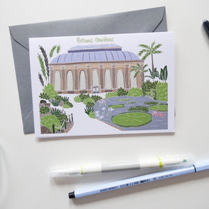 Botanic Gardens Edinburgh Card - Victoria Rose Ball
