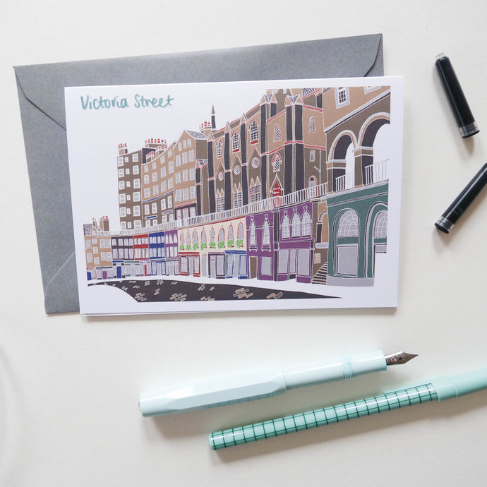 Victoria Street Edinburgh Card - Victoria Rose Ball