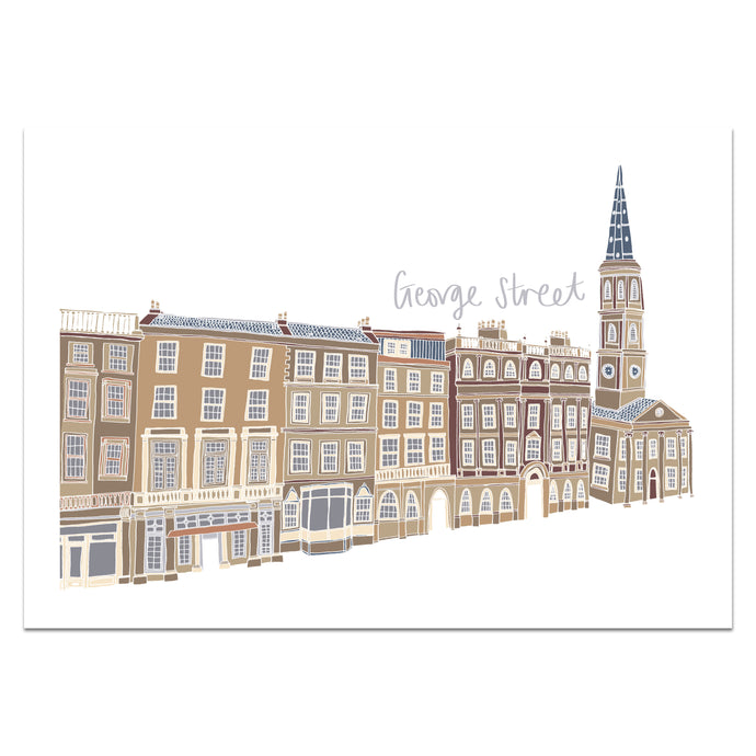 George Street Edinburgh Print - Victoria Rose Ball