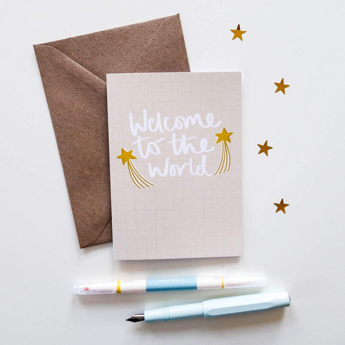 Welcome To The World Card - Victoria Rose Ball