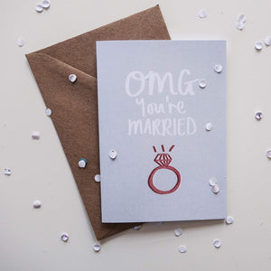OMG You're Married Card - Victoria Rose Ball