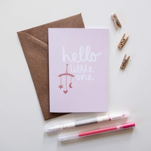Hello Little One Card - Victoria Rose Ball