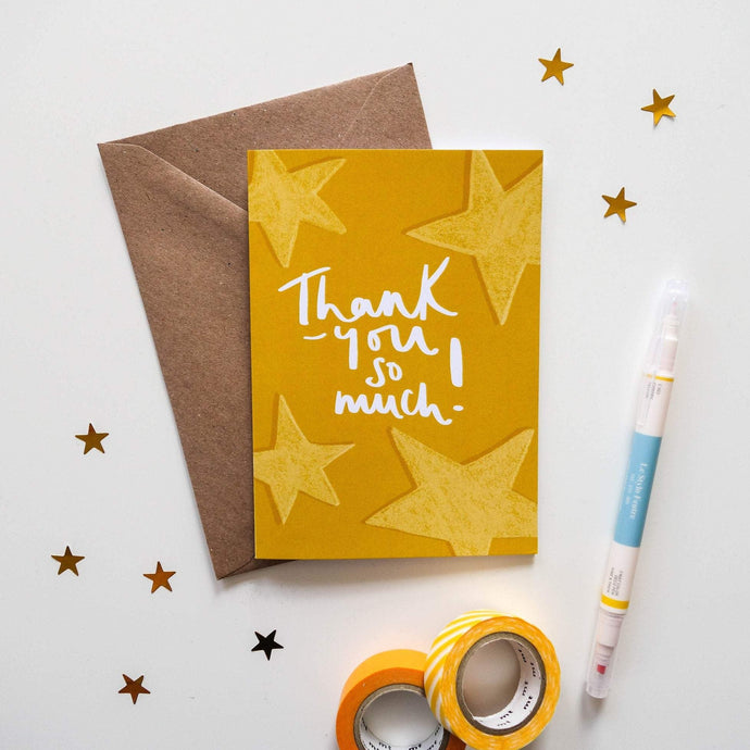 Thank-You So Much Stars Card - Victoria Rose Ball
