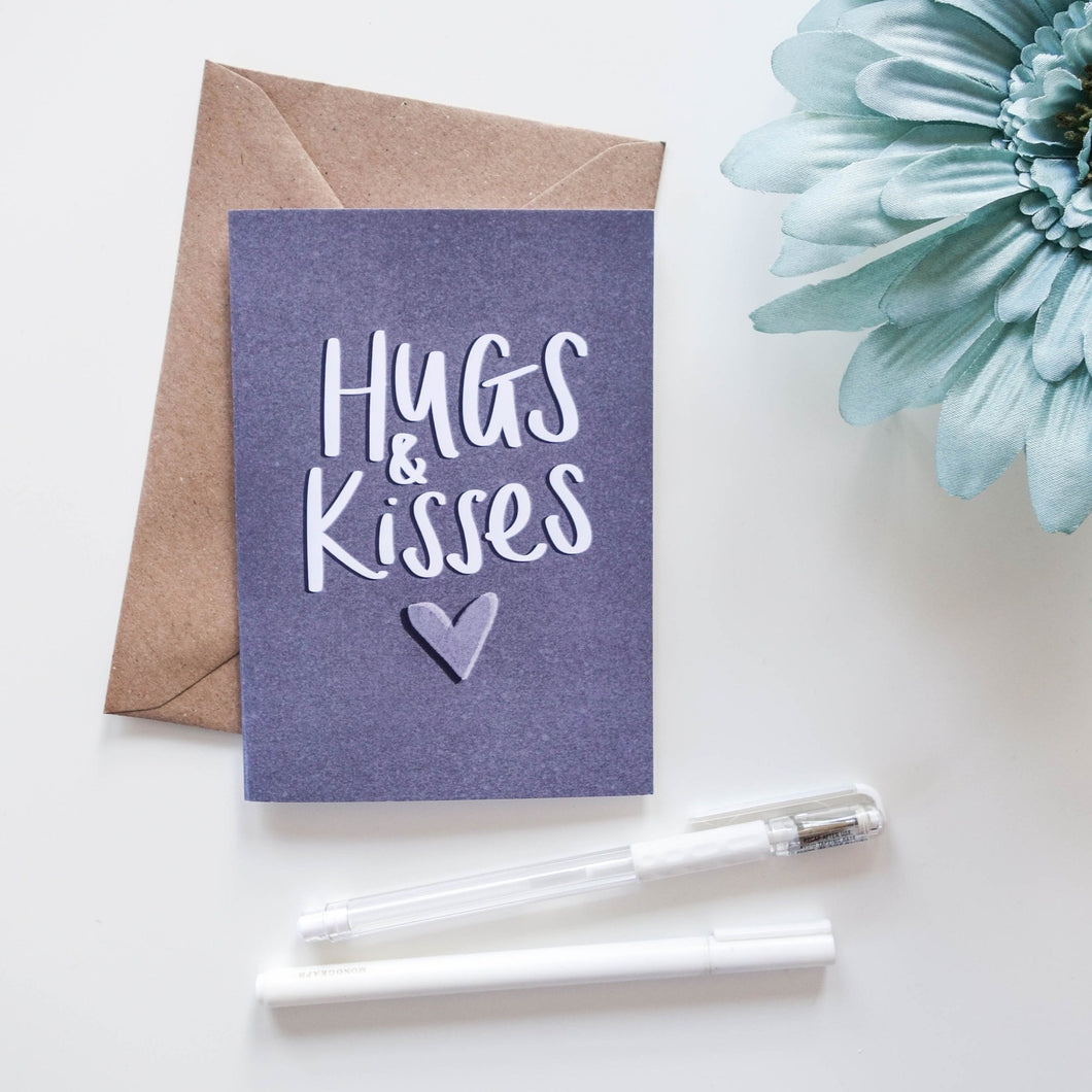 Hugs and Kisses Card - Victoria Rose Ball