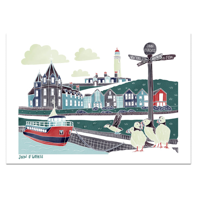 John O'Groats Print - Victoria Rose Ball