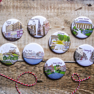 Edinburgh Castle Magnet - Victoria Rose Ball