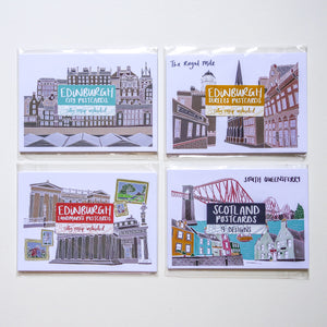 Edinburgh Streets Postcard Set - Victoria Rose Ball