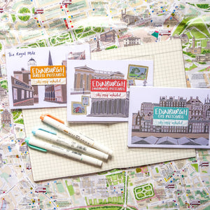 All 3 Edinburgh Postcard Sets - Victoria Rose Ball