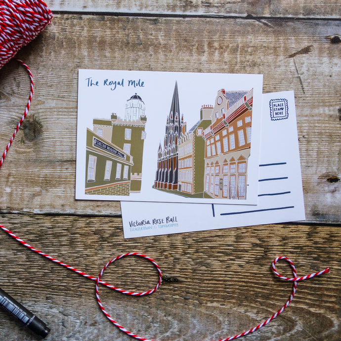Royal Mile Postcard - Victoria Rose Ball