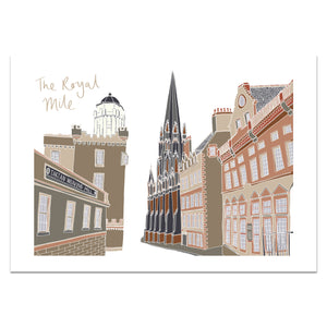 Royal Mile Edinburgh Print - Victoria Rose Ball