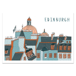 Edinburgh Skyline Print - Victoria Rose Ball