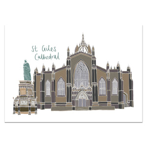St Giles Cathedral Edinburgh Print - Victoria Rose Ball