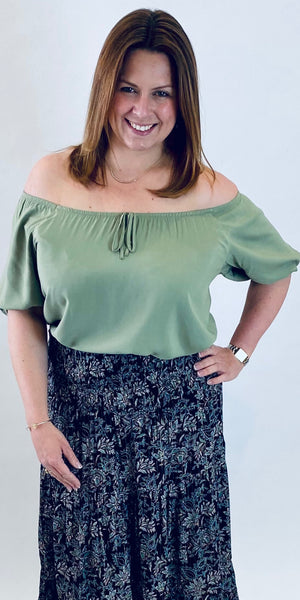 b. young Joella Blouse in Sage
