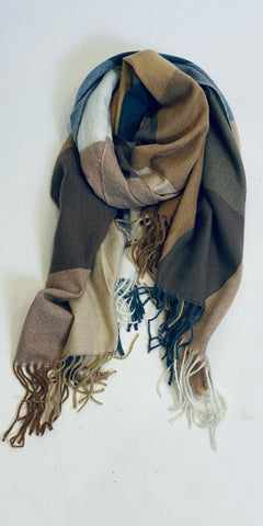 Cosy Natural Check Scarf