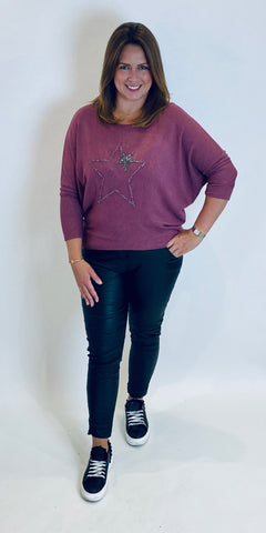 Double Stars Embellished Knit