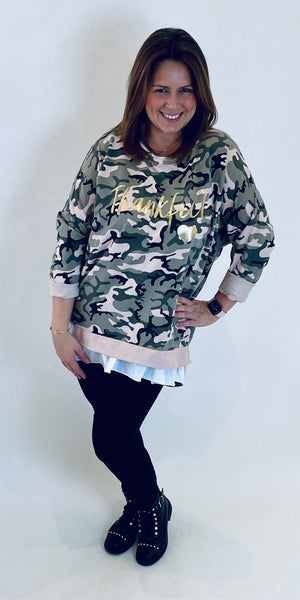 2 Piece Layered Camo Top
