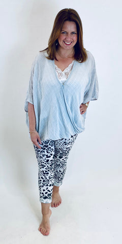 Crinkle Twist Front Layering Top