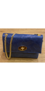 Leather M Bag in French Navy
