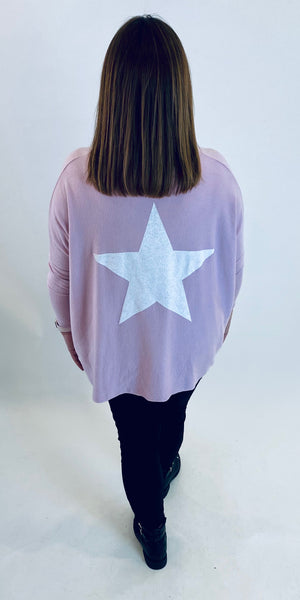 Vibrant Contrast Star Knit
