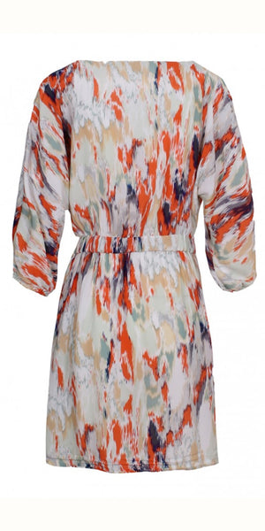 smf Multicolour Wrap Dress