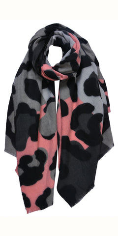 Cosy Vibrant Animal Scarf in Pink