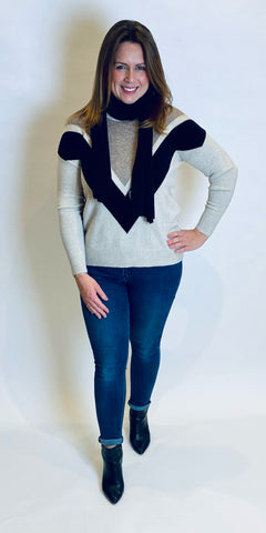 Chevron Knit with Scarf