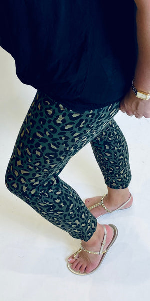 Soft Animal Print Peg Trouser