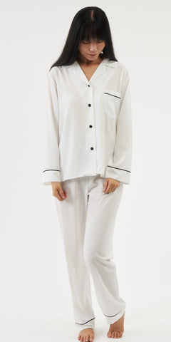 The Sarah Pyjama - Ivory - TheSecretCloset.Boutique