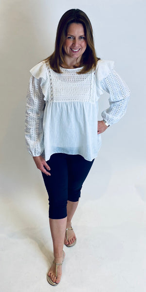 Pretty Broderie Anglaise Top
