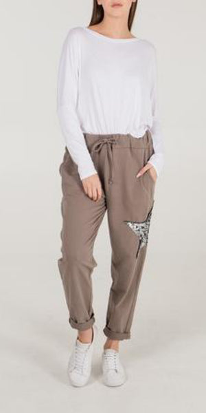Sequin Star Jogger - TheSecretCloset.Boutique