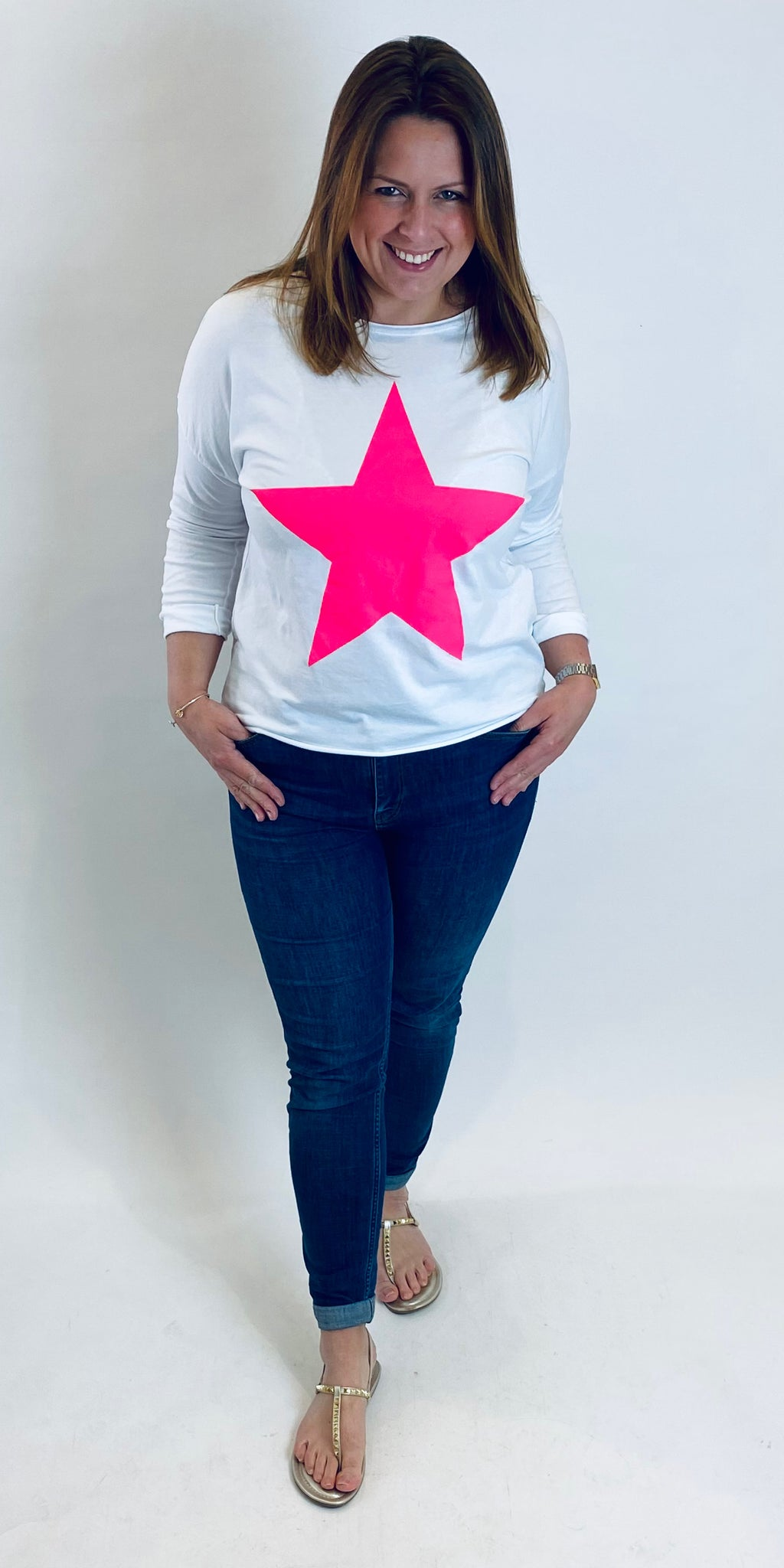 Hot Pink Star Top