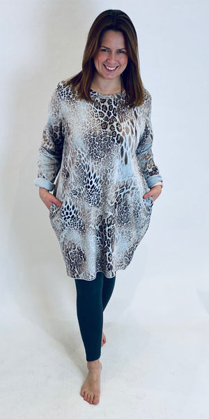 Leopard Pocket Tunic Dress