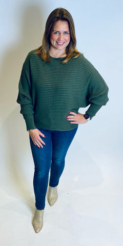 Soft Rib Batwing Knit