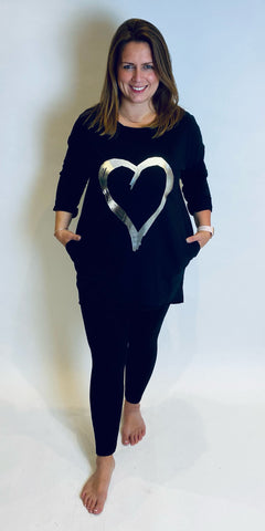 Foil Heart Pocket Tunic