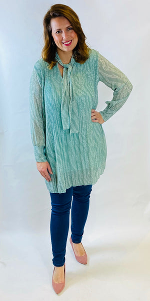 Fine Pleat Printed Tunic - TheSecretCloset.Boutique