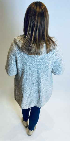 Soft Boucle Hooded Coatigan