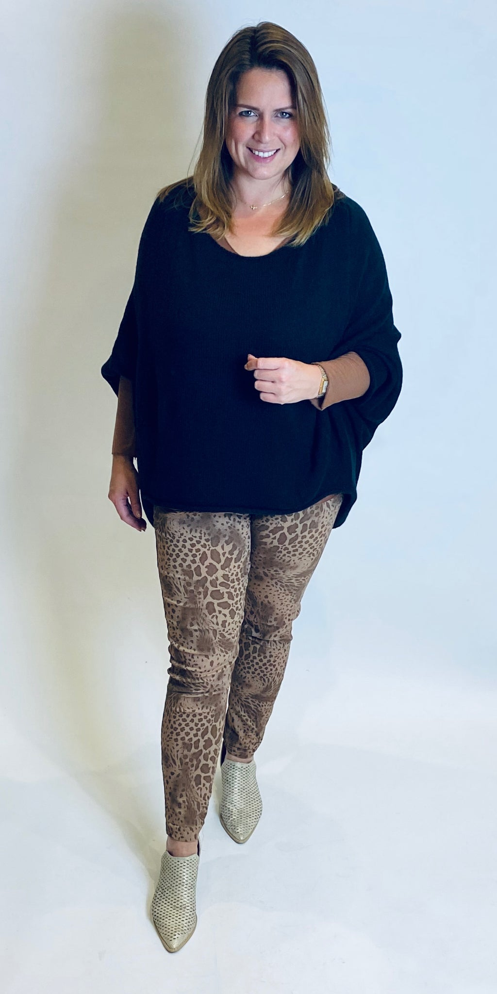 Soft Animal Print Stretch Trouser