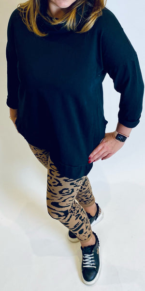 Tiger Print Stretch Trousers