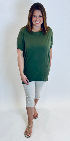 Basic cotton Longline T Shirt