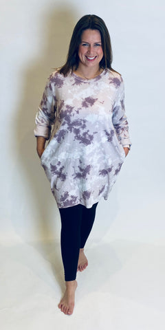 Cotton Tie Dye Pocket Tunic