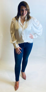 White Structured Blouse