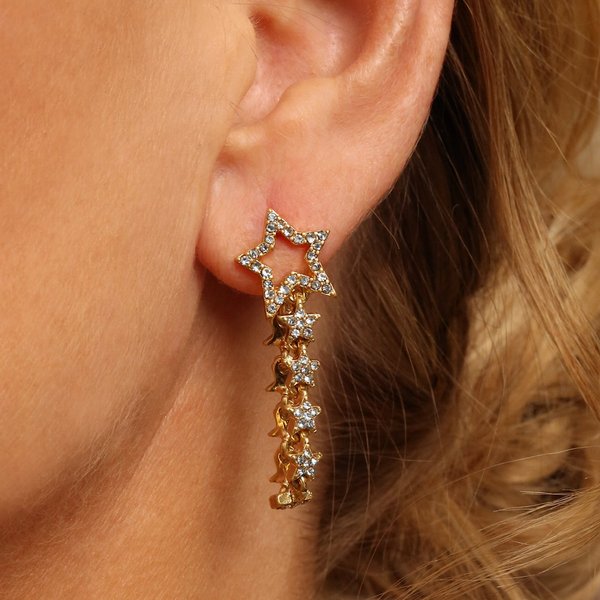 Starlight Drop Earrings in Gold