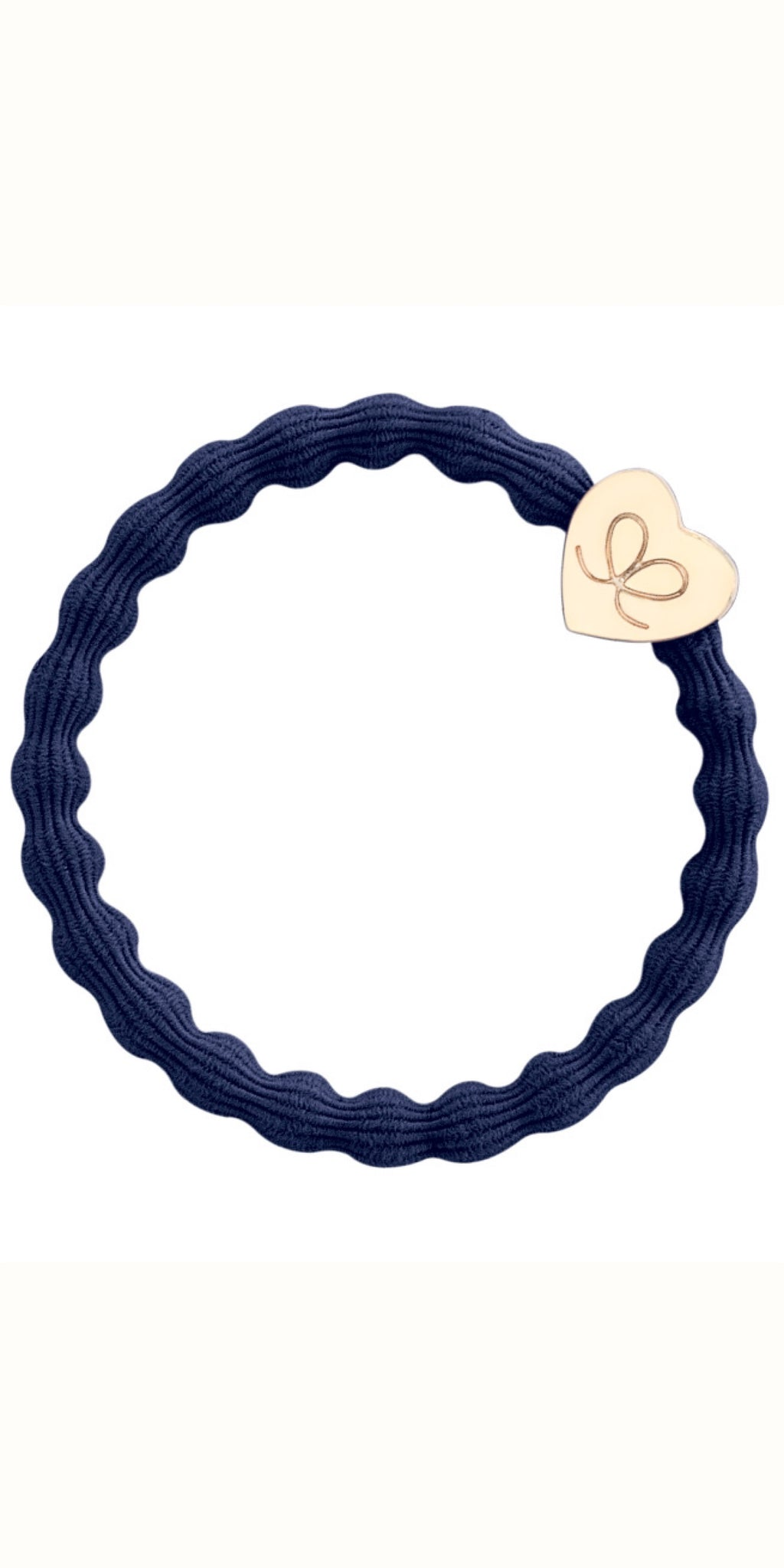 Gold heart on Navy
