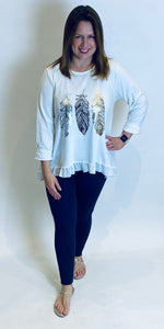 Foil Feather Frill Top