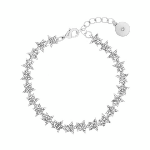 Crystal Star Tennis Bracelet in Silver