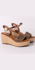 Raffia Wedge in Bronze (Pre-Order)