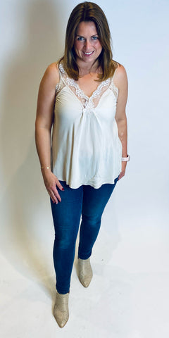 Lace Detail Cami Top