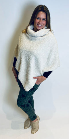 Sparkle Button Cowl Poncho
