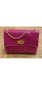 Leather M Bag in Hot Pink