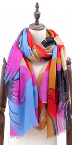 Vibrant Floral Bloom Scarf